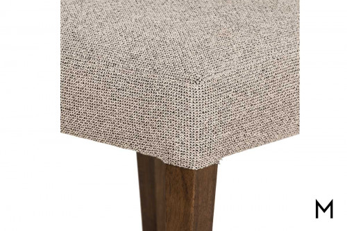 Ferris Dining Chair with Leather and Fabric