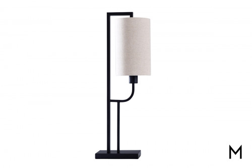Contemporary Metal Sculpture Table Lamp