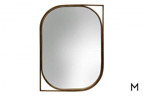 Right Facing Gold Mirror