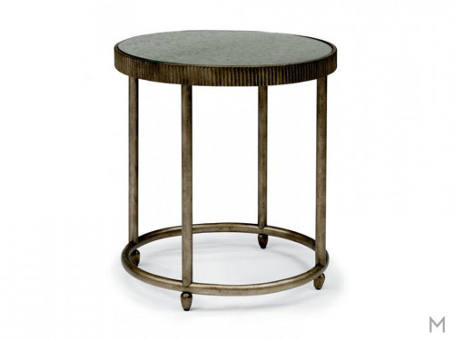 Flexsteel Lamp Table with mirror top
