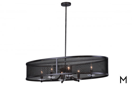 Oval Mesh 6-Light Chandelier