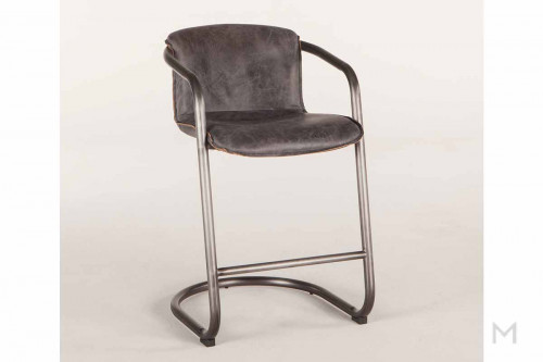 Portofino Antique Counter Chair in Ebony