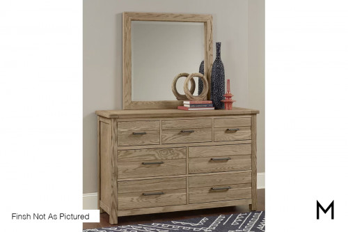 Loft 7-Drawer Dresser in Dark Oak Finish