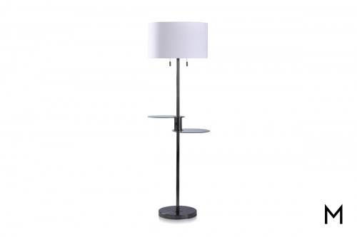 Glass Tray Floor Lamp