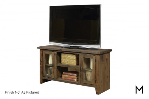 "Alder 2 Door 50"" TV Console in Brindle Finish"
