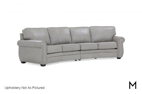 Arched 2-Piece Sectional Sofa