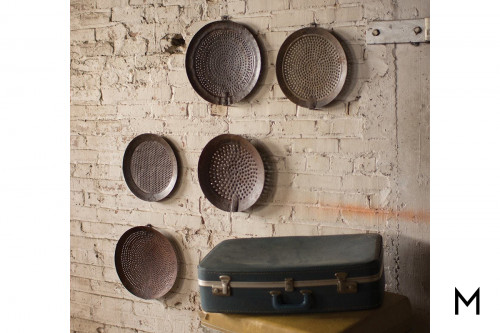 Iron Strainer Wall Hanging Set
