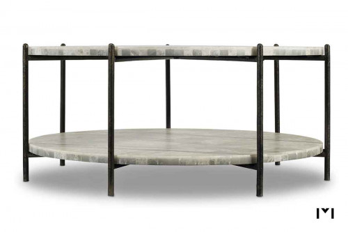 Melange Blythe Coffee Table featuring White Onyx