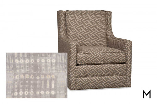 Cedric Swivel Glider in Gray Pattern