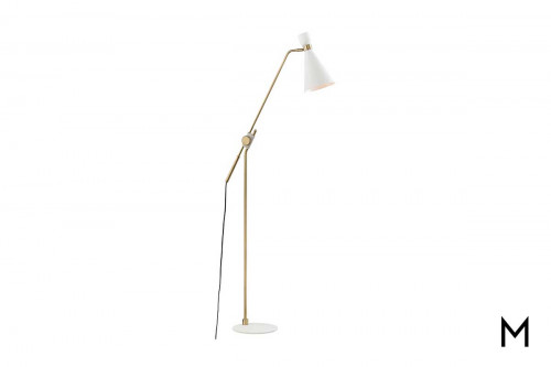 Willa Floor Lamp in Aged Brass and Soft Off White