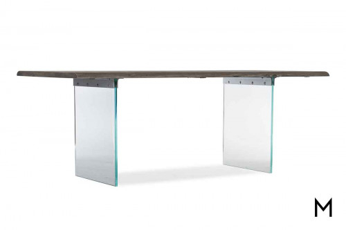 Organic Dining Table with Glass Legs