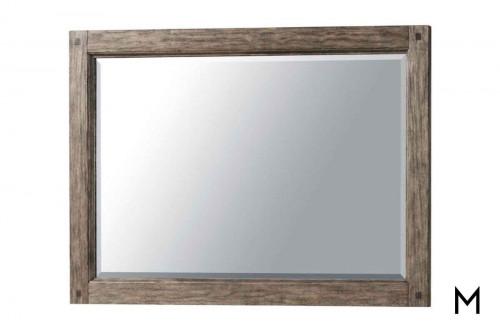 Riverbank Dresser Mirror in Weathered Gray Oak
