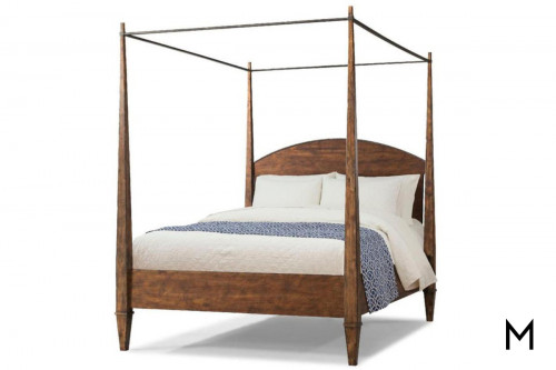 Daisy King Poster Bed with Canopy