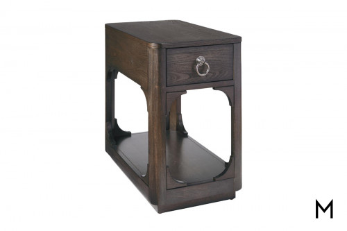 Davison Chairside Table in Chestnut Brown