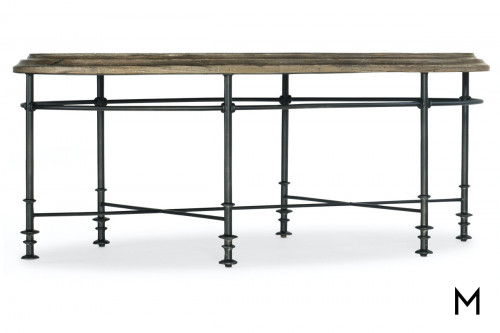 Industrial Chic Oval Cocktail Table