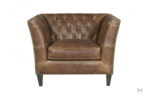 Duncan Accent Chair featuring Button Tufted Back and Nailhead Trim