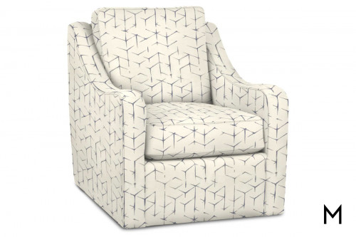 M Collection Lumas Swivel Accent Chair