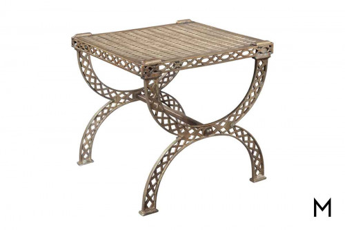 Almn Side Table with Grate Top