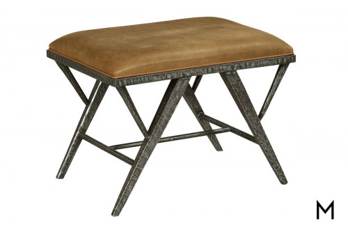 Metal Bench with Cushioned Top