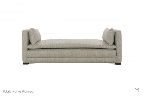 Ellice Upholstered Lounger in Olive
