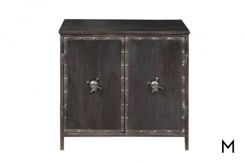 Legion Skull and Crossbones Accent Chest with Riveted Metal Bands