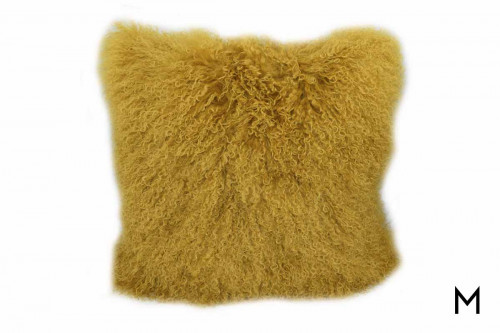 Tibetan Sheep Pillow in Mustard