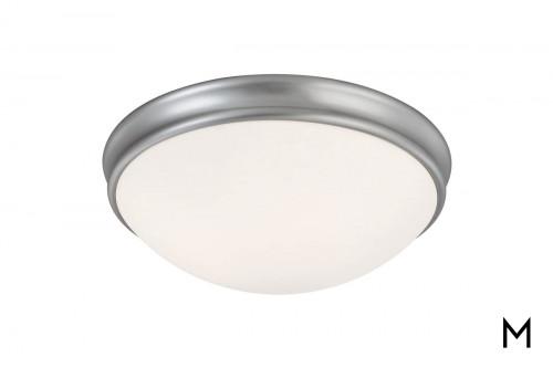 Nickel Finish Flush Mount Ceiling Light