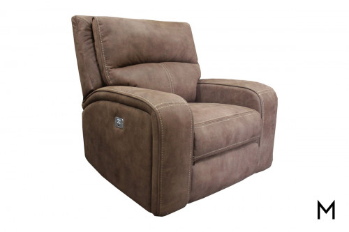 M Collection Power Recliner in Kahlua Brown