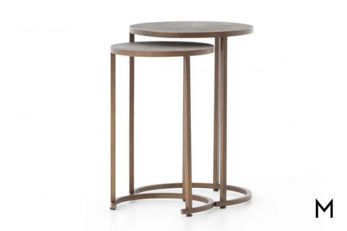 Shagreen Nesting Table