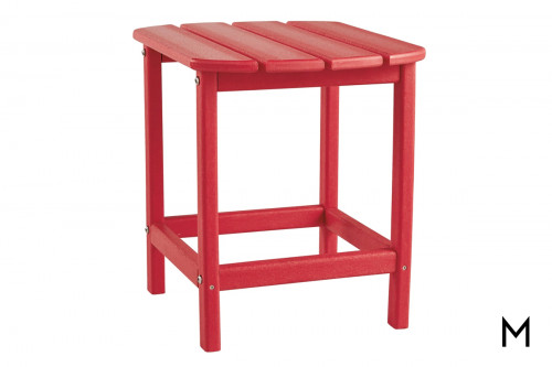 Sundown Outdoor End Table in Red