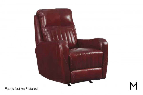 M Collection Race Track Power Recliner Massage & Heat Therapy, Lumbar Support, & Power Headrest