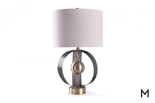 Contemporary Metal Sculpture Table Lamp