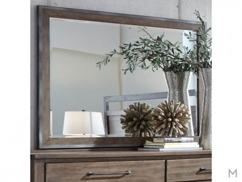 Sonoma Road Landscape Mirror with Metal Frame