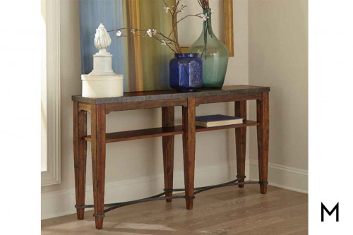 Ginkgo Console Table featuring Metal Detailing