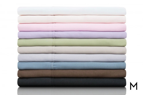 Ash Brushed Microfiber King Sheets