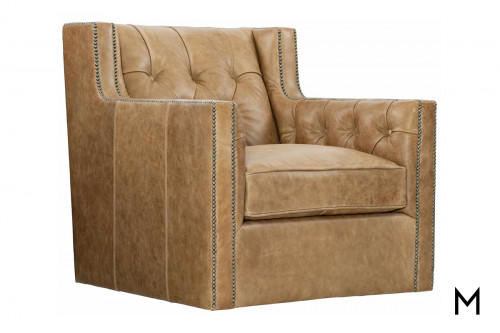 Beverly Leather Swivel Chair
