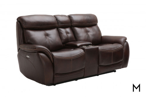 M Collection Homerun Power Reclining Loveseat