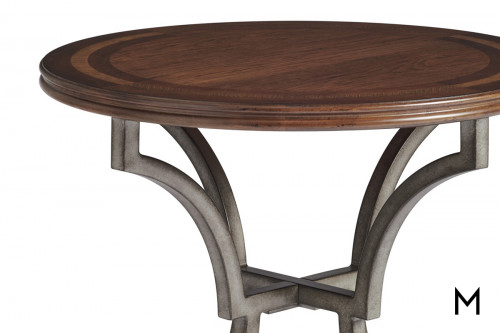 Traditional Round Inlaid End Table