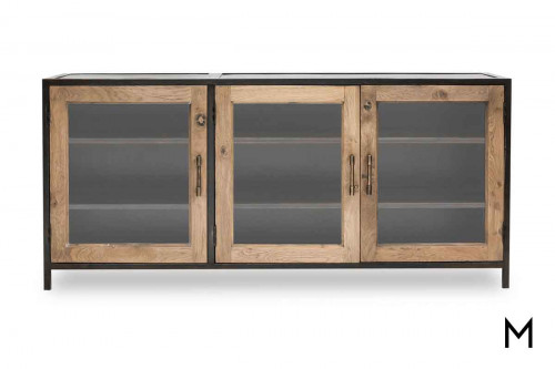 Dominic Media Console in Oak