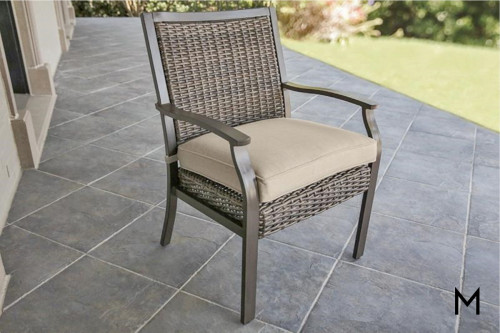 M Collection Trenton Woven Dining Chair