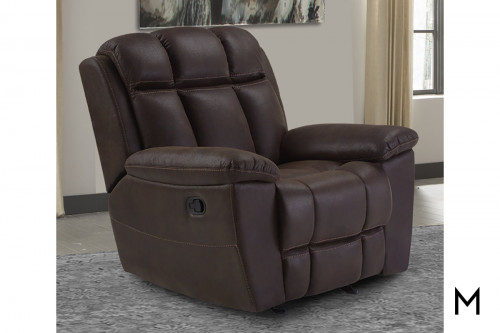 M Collection Glider Recliner in Arizona Brown