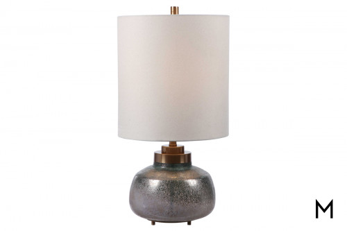 Round Buffett Lamp with Elongated Shade