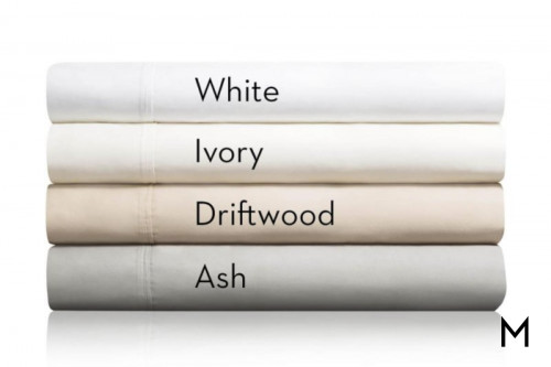 White Cotton TwinXL Sheets with 600 Thread Count