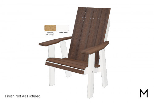 Contemporary Chair in Mahogany and White