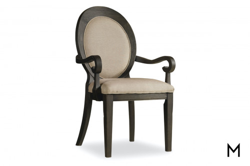 Oval Back Dining Arm Chair