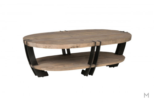 Marcelo Oval Coffee Table featuring Hand Distressing