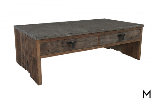 Ellen Coffee Table with Stone Top