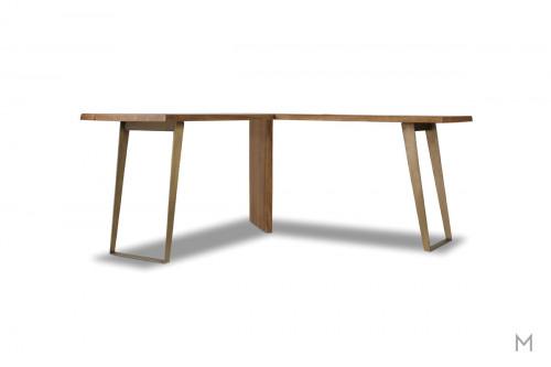 Transcend L-Shaped Desk made of Acacia Wood