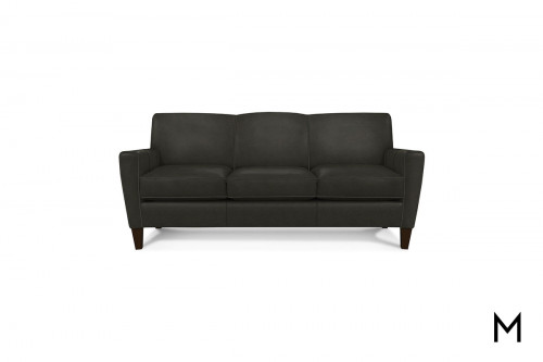Leather Collegedale Sofa in Revelation Steel