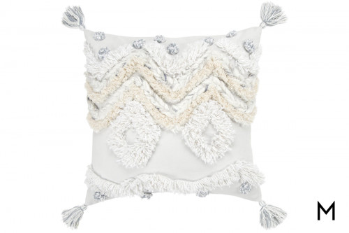 "Chevron & Diamond Accent Pillow 20""x20"""